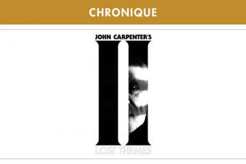 JOHN CARPENTER : LOST THEMES II (SACRED BONES RECORDS – 2016)