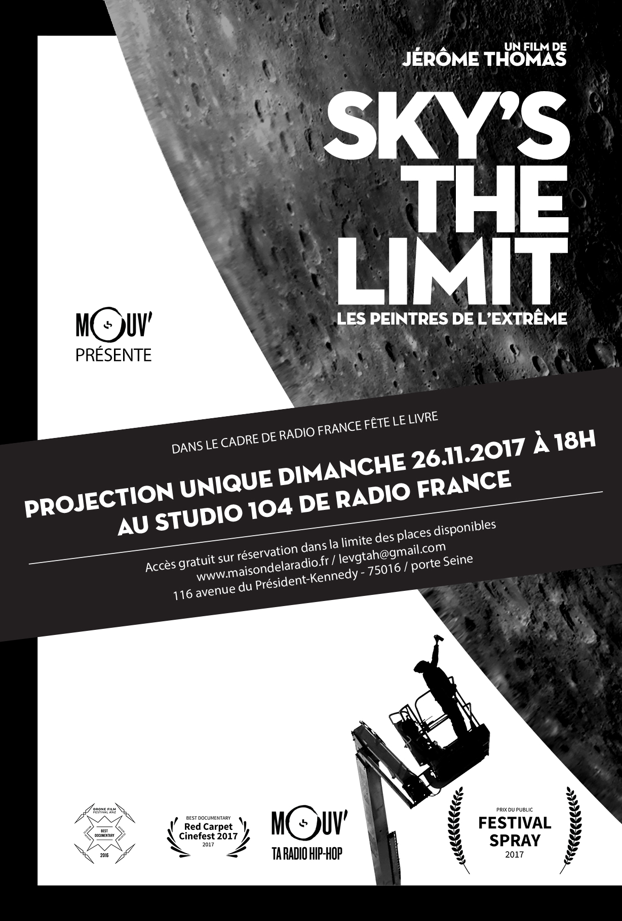 PROJECTION DU DOCU « SKY'S THE LIMIT, LES PEINTRES DE L'EXTRÊME » AU STUDIO 104 (MAISON DE LA RADIO)