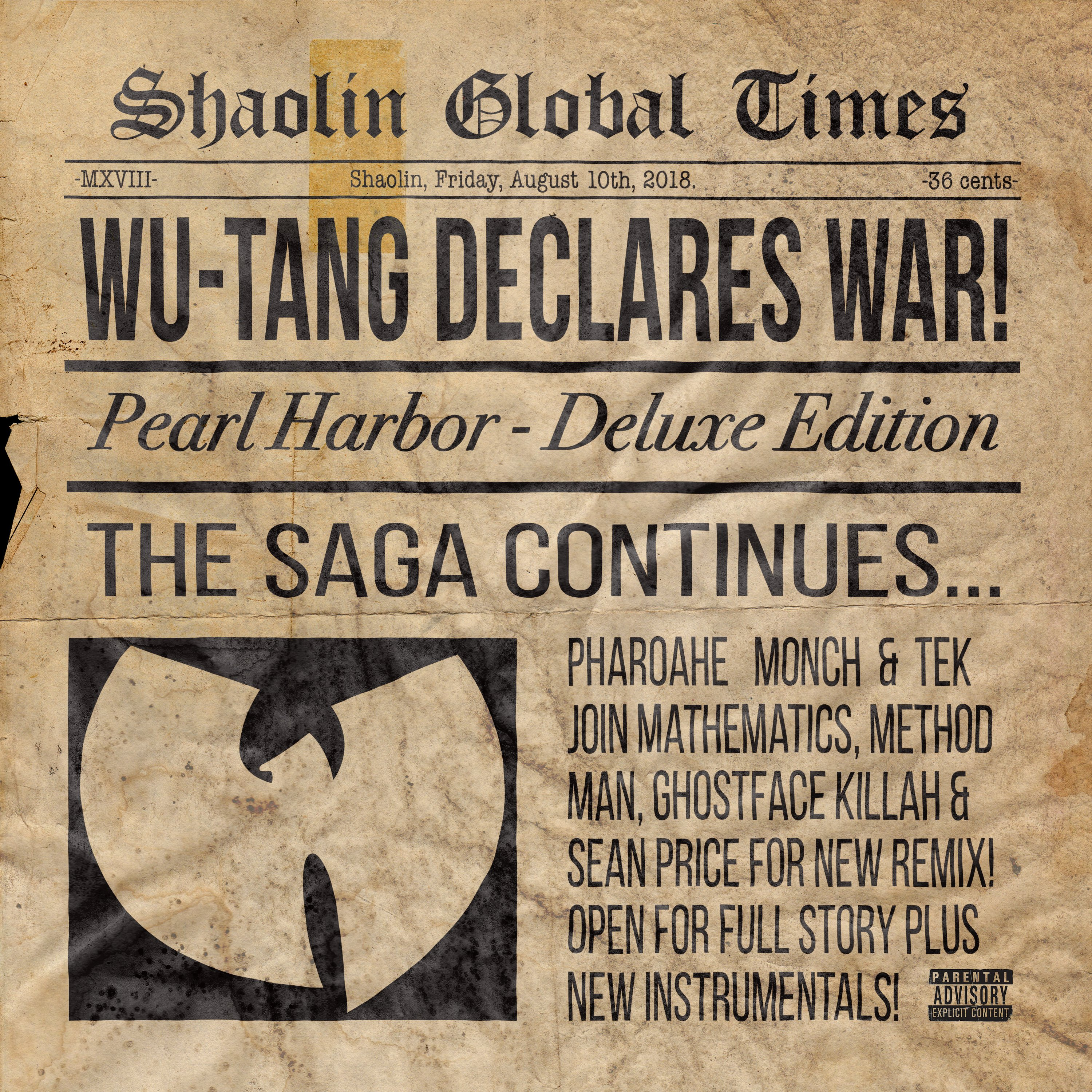 « PEARL HARBOR » DU WU TANG CLAN : UN REMIX AVEC PHAROAHE MONCH & TEK