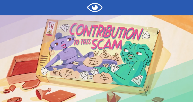 « MY CONTRIBUTION TO THIS SCAM » DE JEAN GRAE & QUELLE CHRIS : LE JEU DES FAUX SEMBLANTS