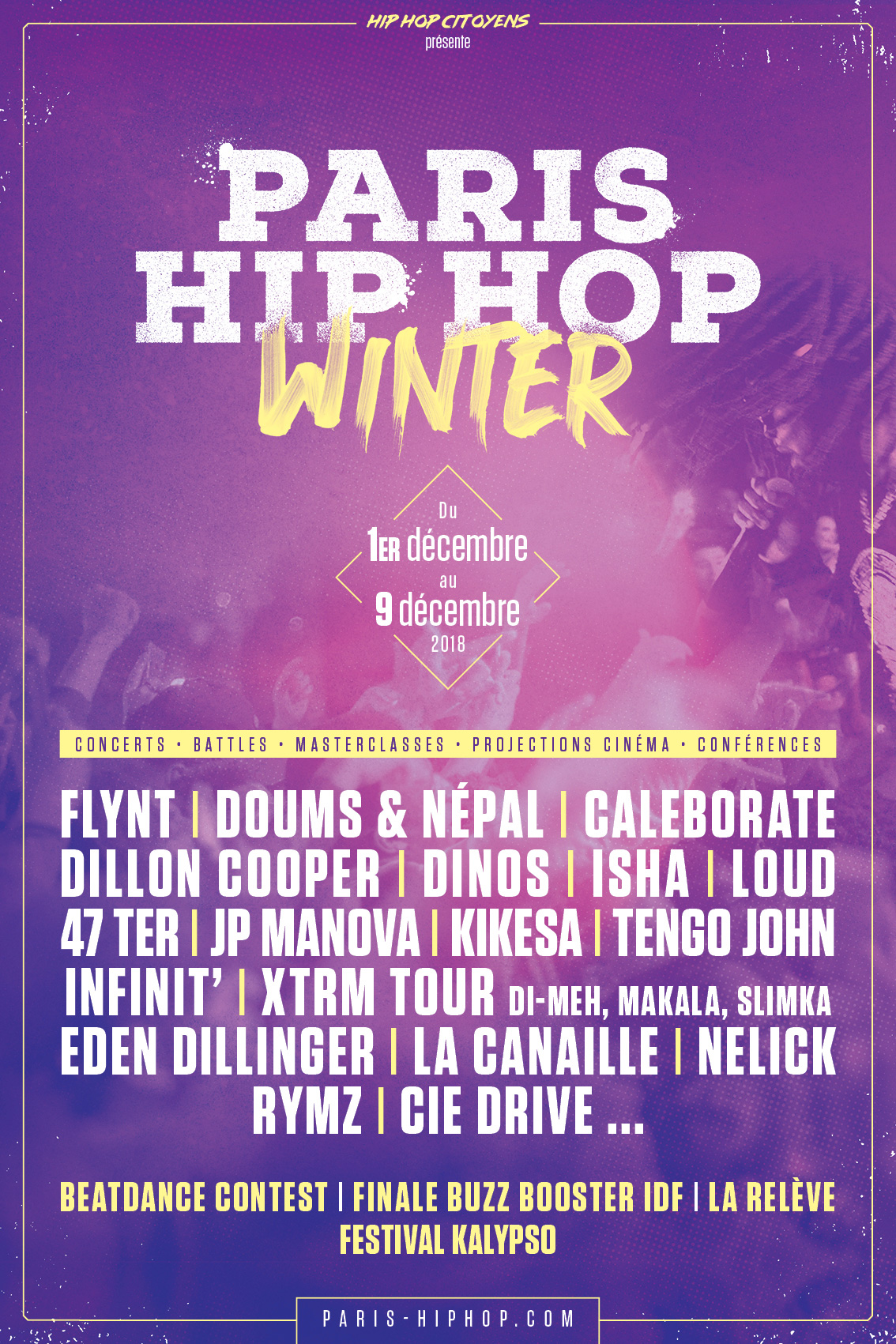 PARIS HIP HOP WINTER 2018 : XTRM TOUR